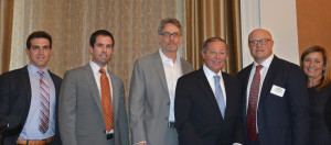 Clarke Talone, second from left, served as a panelist at the Mid Atlantic Real Estate Journal's 2016 Philadelphia Forecast event, held September 16 in Philadelphia.